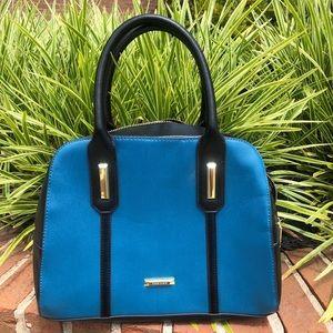 Rare blue & black Anne Klein hand /shoulder bag